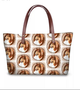 Large Ladies Shetland Sheepdog Sheltie Purse profile