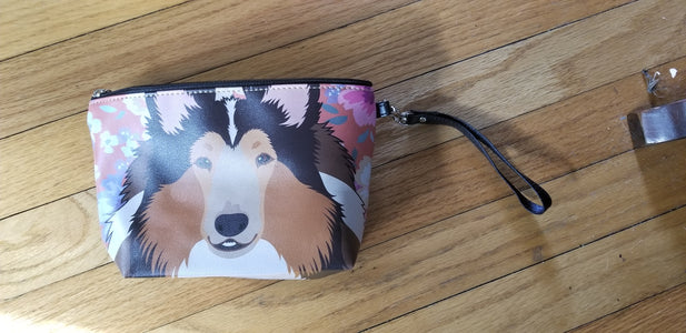 Ladies Collie Shetland Sheepdog Sheltie Purse Makeup