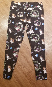 Sheltie Shetland Sheepdog Breed Ladies Leggings Perfect for Agility
