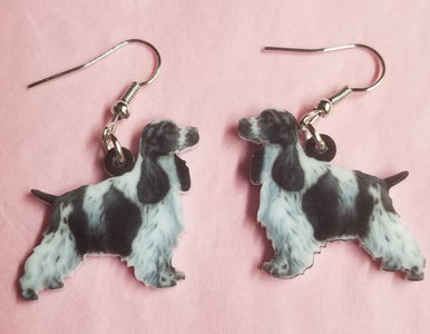 English Cocker Spaniel Dog Ladies Lightweight Earrings