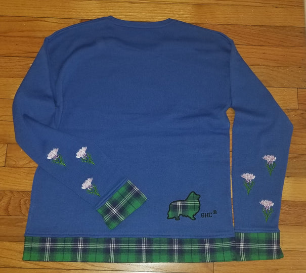Scottish Heritage Collie Sheltie Shetland Sheepdog Dog Ladies Sweater