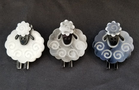 Ba Ba Black Sheep and Friends Acrylic Handmade Pin Brooch Jewelry