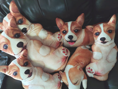 Pembroke Welsh Corgi Dog Body Pillow 4 styles of cuteness