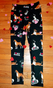 Boxer Working Dog Breed Ladies Leggings Perfect for Agility