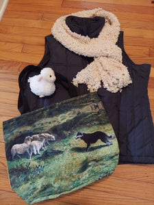 Go Bye Ladies Border Collie Sheep Herding Purse Tote