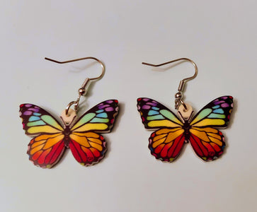 Rainbow Butterfly Monarch Lightweight Earrings Jewelry
