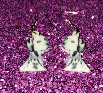 Dalmatian Dog Lightweight Ladies Earrings Jewelry