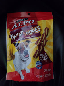 ALPO Purina Twist-Ables Beef Cheese Flavors Dog Treats 5.5 Oz