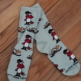 Snooty Red Fox Hunting Horn Wildlife Ladies Socks