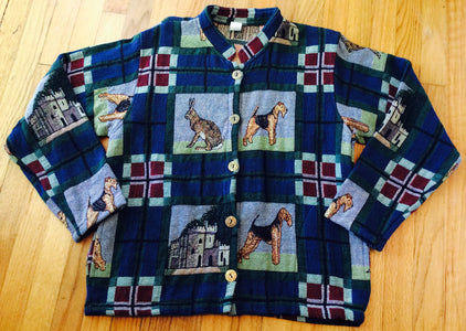 Ladies Tapestry Airedale Lakeland Welsh Terrier Dog Jacket Coat