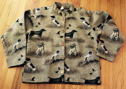Ladies Tapestry German Shorthaired Shorthair Pointer Dog Jacket Coat
