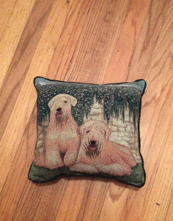 Tapestry Soft Coated Wheaten Terrier Dog Pillow
