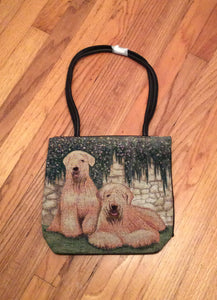 Ladies Soft Coated Wheaten Terrier Dog Purse Handbag