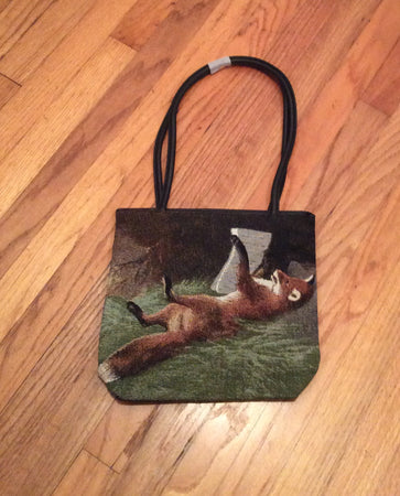 Cozy Wildlife Red Fox Tapestry Ladies Purse