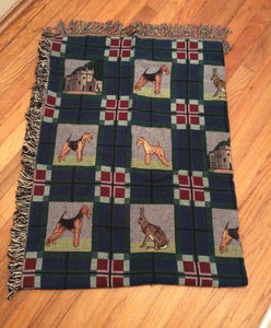 Airedale, Welsh, Lakeland Terrier Tapestsry Blanket Throw