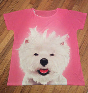 Bad Hair Day West Highland White Terrier Westie Dog Ladies Shirt