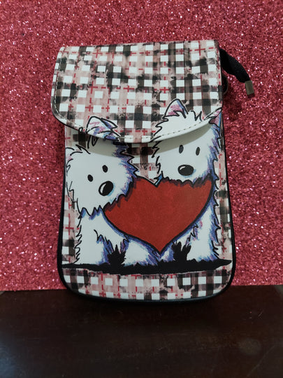 West Highland White Terrier Westie Dog in Love Ladies Crossbody Purse