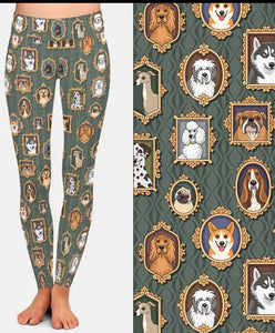 Multi Dog Breed Ladies Leggings Perfect For Agility Whippet, Dalmatian, Old English Sheepdog