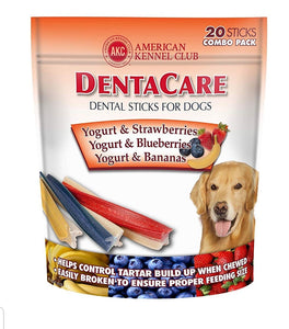 AKC American Kennel Club Yogurt Strawberry Blueberry Banana Rolls Dog Treats