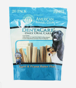 AKC American Kennel Club Yogurt Peanut Butter Dental Rolls Dog Treats