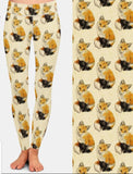 Red Fox Wildlife Ladies Leggings Activewear