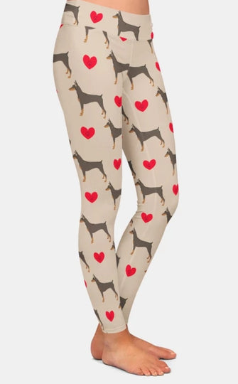 For the love of the Doberman Pinscher Dog Breed Ladies Leggings Perfect for Agility