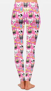 New French  Bulldog Frenchie Breed Ladies Leggings Perfect for Everything