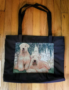 Waterproof Large Tote Soft-Coated Wheaten Terrier Dog Purse