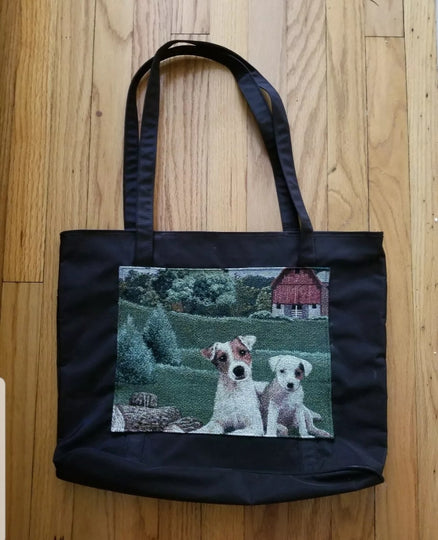 Waterproof Large Tote Jack  Russell Parsons Terrier Dog Purse