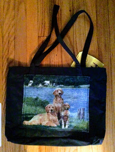 Waterproof Large Tote Golden Retriever Dog Purse