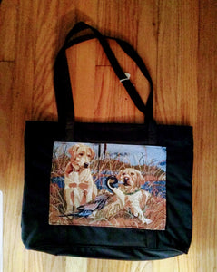 Waterproof Large Tote Yellow Labrador Retriever Dog Purse
