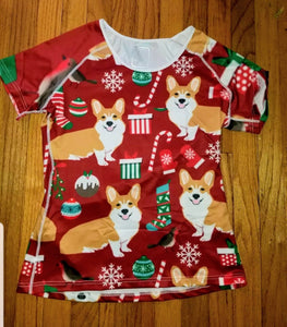 Christmas  holiday Pembroke Welsh Corgi Dog Yoga Style T-Shirt