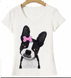SALE Intoducing Mrs. Boston Terrier Dog Ladies T-Shirt