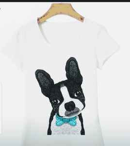Intoducing Mr. Boston Terrier Dog Ladies T-Shirt