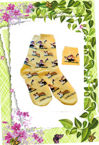 Pembroke Welsh Corgi Dog Socks With Fairy