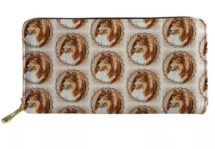 Ladies Collie Shetland Sheepdog Sheltie Purse Wallet