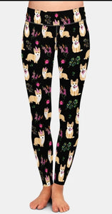 Unicorn Pembroke Welsh Corgi Dog Breed Ladies Leggings