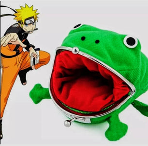 Naruto Uzumaki Cosplay Gamabunta Gama-chan Frog Coin Wallet Cartoon Animal Anime Plush Toy