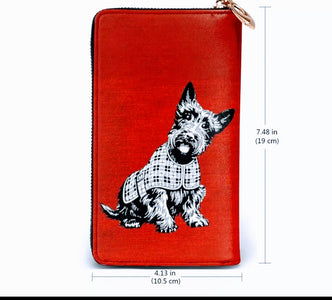 Ladies Scottish Terrier Scottie Dog Purse Wallet