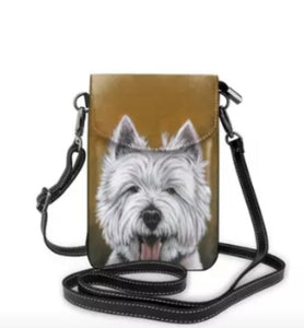 Sweet West Highland White Westie Terrier Dog Ladies Crossbody Purse
