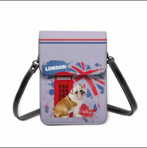 London is Calling BullDog Ladies Crossbody Purse