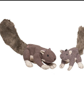 Hugglehounds Big Feller Squirrel Dog Plush Toy