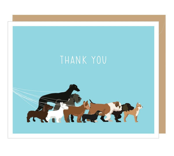 Thank you, thank you very much Dog Greeting Cards or a Blank version