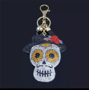 Dawn of the Dead Crystal Rhinestone Keychain, Key Fob, Purse or Backpack Charm