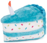 Let them Eat Cake, Birthday Cake, of Course!  Pink or Blue Plush Squeaker Toy