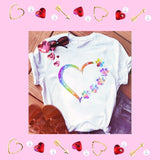 Rainbow Hearts and Paws Love Ladies T-Shirts 3 Styles to Choose From