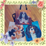 Cavalier King Charles Tote Me Around Town Bag 3 Styles