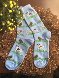 German Shorthaired Shorthair Pointer Hunting Dog With Pheasant Socks