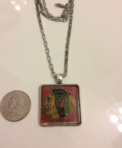 NHL Chicago Blackhawks Hockey Team Logo Women Necklace
