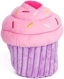 Zippy Paws Birthday Celebration Cupcake Pink or Blue Plush Squeaker Toy